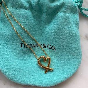 Tiffany Paloma Picasso gold loving heart pendant
